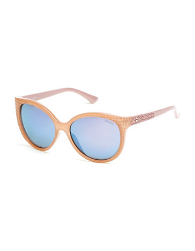 Guess 57mm Two-Tone Cat-Eye Sunglasses-BEIGE-One Size