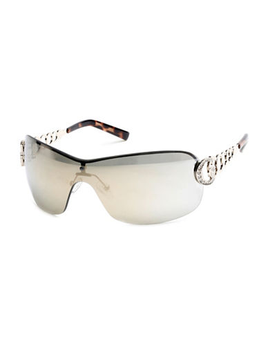 Guess Gunmetal Shield Sunglasses-GUNMETAL-One Size