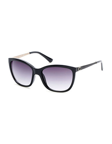 Guess 58mm Cat-Eye Sunglasses-BLACK-One Size