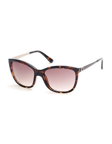 Guess 58mm Tortoise Cat-Eye Sunglasses-HAVANA-One Size
