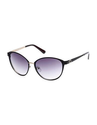 Guess 58mm Cat-Eye Sunglasses-BLACK-One Size
