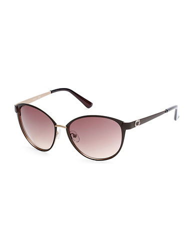 Guess 58mm Cat-Eye Sunglasses-BROWN-One Size