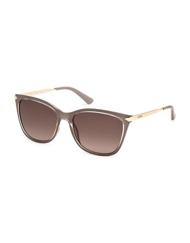 Guess 56mm Square Sunglasses-TAUPE-One Size