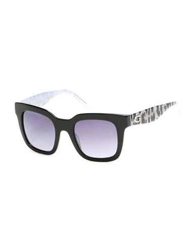 Guess 50mm Square Sunglasses-BLACK-One Size