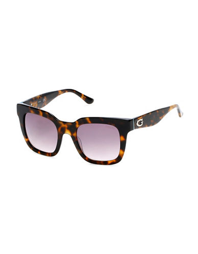 Guess 50mm Square Sunglasses-HAVANA-One Size