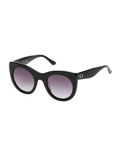 Guess 51mm Round Sunglasses-BLACK-One Size
