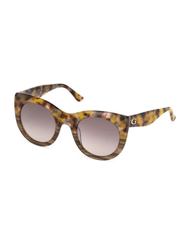 Guess 51mm Round Sunglasses-HONEY-One Size