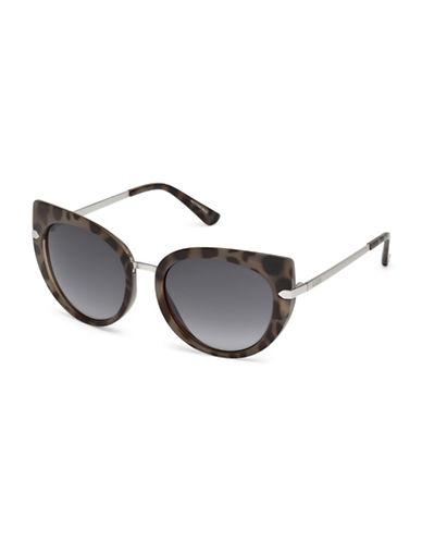 Guess 55MM Spotted Cat Eye Sunglasses-GREY-One Size