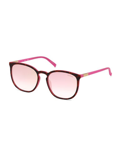 Guess 56mm Tinted Square Sunglasses-PINK-One Size