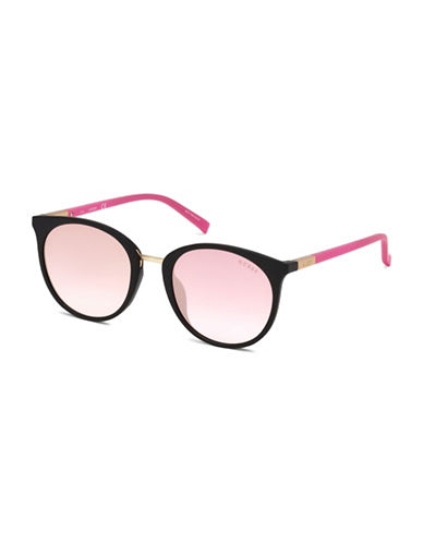 Guess 56mm Tinted Round Sunglasses-PINK-One Size