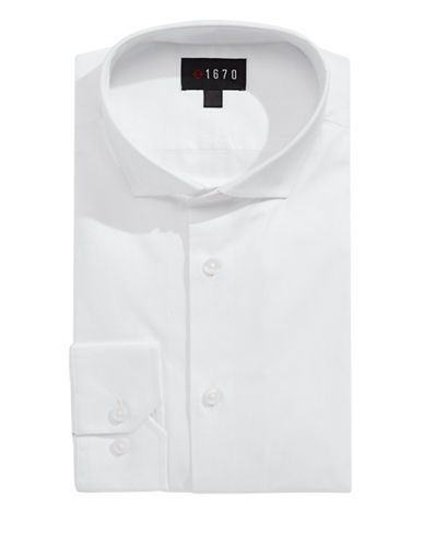 1670 Slim Fit Dress Shirt-WHITE-14-32/33