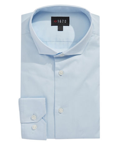 1670 Slim Fit Dress Shirt-LIGHT BLUE-15-32/33
