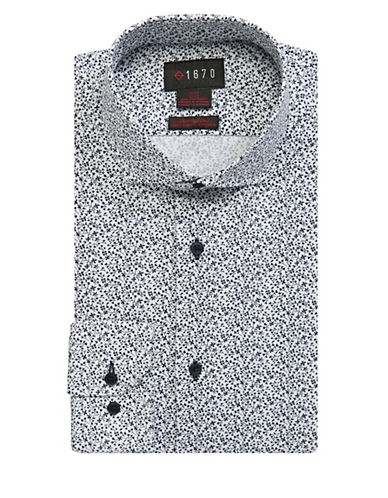 1670 Cotton Dress Shirt-WHITE-17-32/33