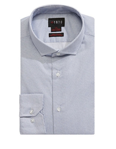 1670 Printed Dress Shirt-BLUE-14.5-32/33