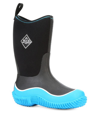 Muck Boots Hale Contrast Bottom Boots-BLUE/BLACK-2