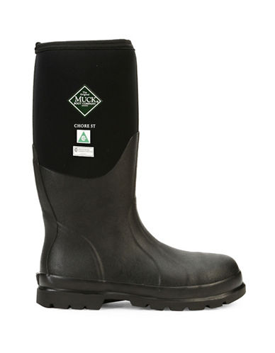 Muck Boots Chore Steel Toe Fleece-Lined Boots-BLACK-8
