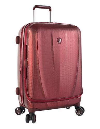 Heys Vantage SmartLuggage 26-Inch Suitcase-BURGUNDY-26 in