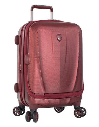 Heys Vantage SmartLuggage 21-Inch Suitcase-BURGUNDY-21
