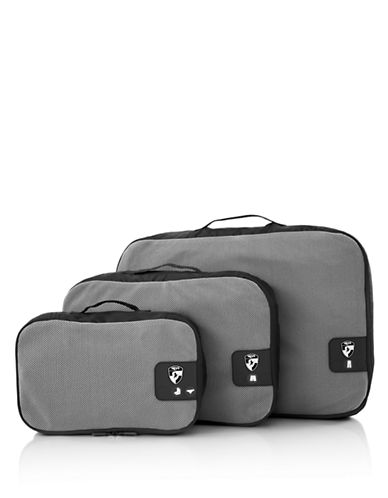Heys Pack ID 3 pc Packing Cube Set-BLACK-One Size