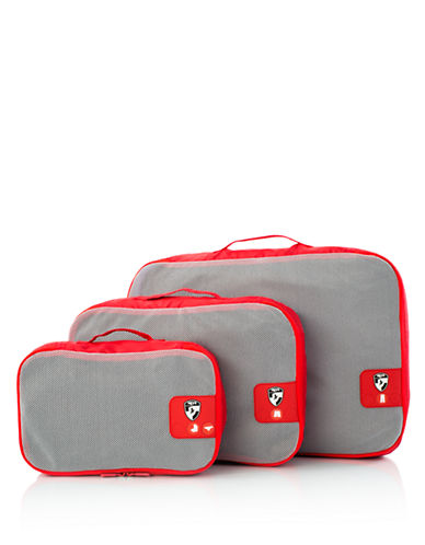 Heys Pack ID 3 pc Packing Cube Set-RED-One Size