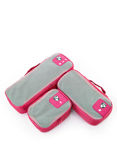 Heys Pack ID 3 pc Slim Packing Cube Set   3 size-PINK-One Size
