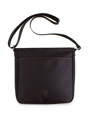 Heys HiLite Dual Zip Crossbody with RFID Shield-BLACK-One Size