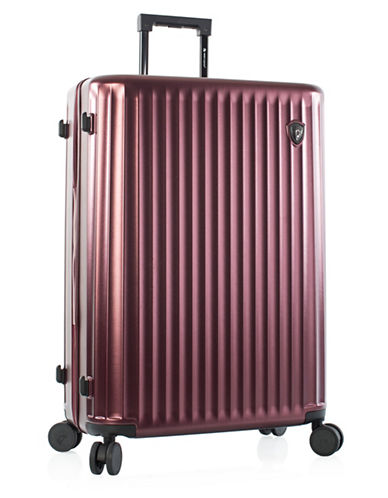 Heys Smart Luggage 30-Inch Suitcase-BURGUNDY-30