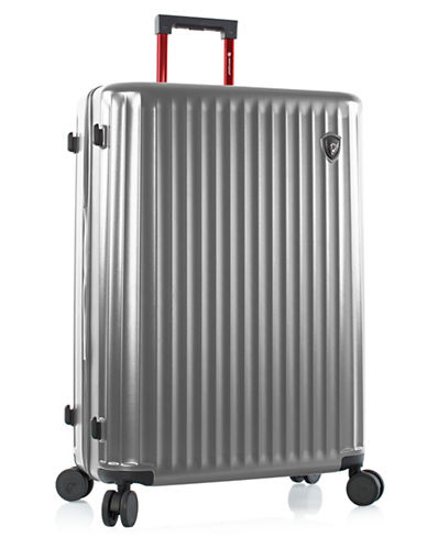 Heys Smart Luggage 30-Inch Suitcase-SILVER-30