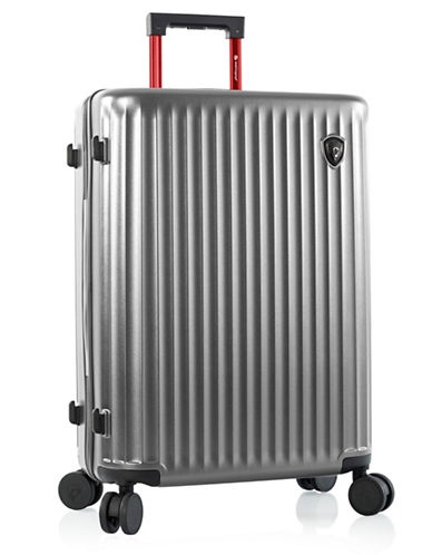 Heys Smart Luggage 26-Inch Suitcase-SILVER-26