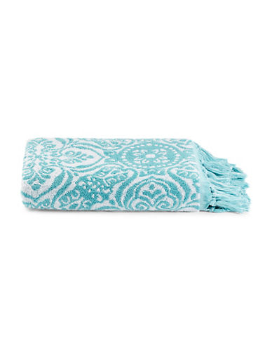 Jessica Simpson Sunita Cotton Bath Towel-AQUA-Bath Towel