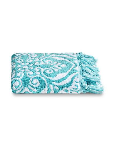 Jessica Simpson Sunita Cotton Hand Towel-AQUA-Hand Towel