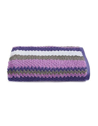 Jessica Simpson Textured Stripe Bath Towel-PURPLE-Bath Towel