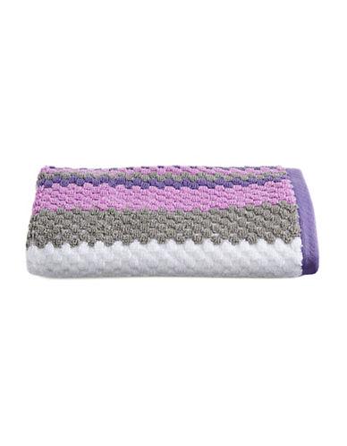 Jessica Simpson Textured Stripe Hand Towel-PURPLE-Hand Towel