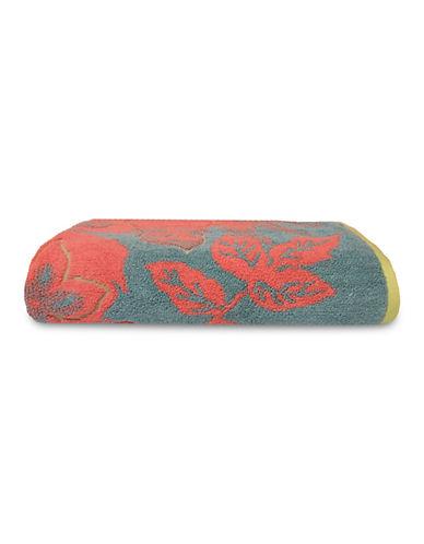 Jessica Simpson Siena Flower Bath Towel-AQUA-Bath Towel