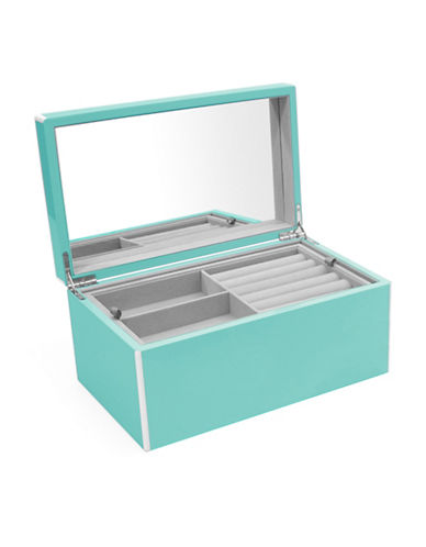 Swing Design Elle Lacquer Jewellery Box-BLUE-One Size