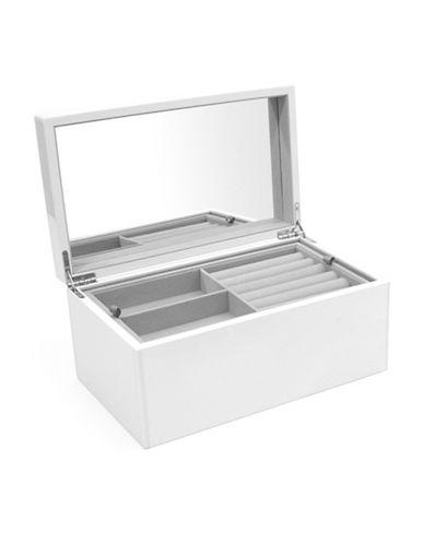 Swing Design Elle Lacquer Jewellery Box-WHITE-One Size