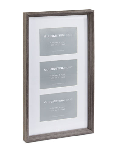 Glucksteinhome Sutton 10in x 17in Wood Photo Collage Wall Frame-CHARCOAL-One Size