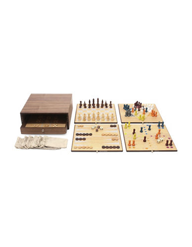 Swing Design Collectors Edition 5-In-1 Game Set-BROWN-One Size