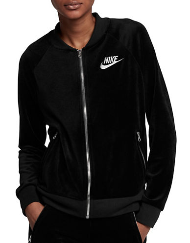 Nike Velvet Bomber Jacket-BLACK-Small