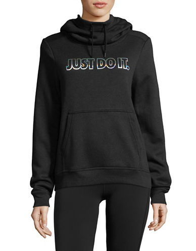 Nike Fleece Metallic Hoodie-BLACK-Medium 89655687_BLACK_Medium
