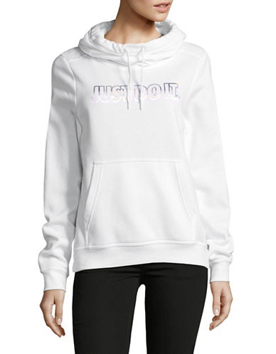 Nike Fleece Metallic Hoodie-WHITE-Medium 89655692_WHITE_Medium