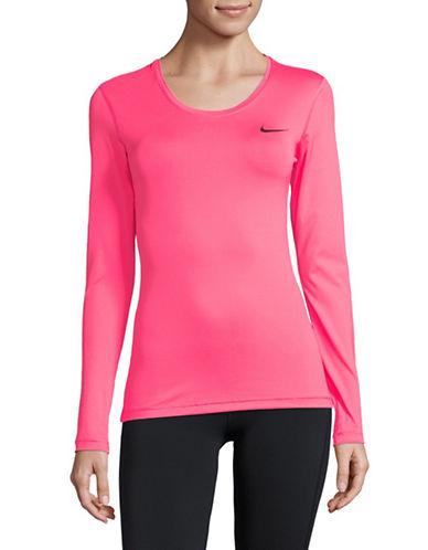 Nike Logo Long Sleeve Tee-PINK-Medium