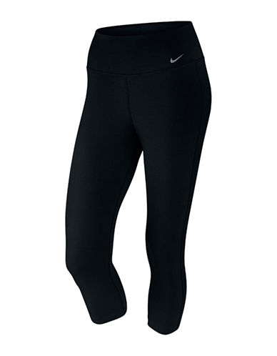 Nike Dri-FIT II Solid Capris-BLACK-Small 88565212_BLACK_Small