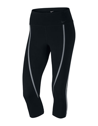 Nike Legendary Stripe Dri-FIT Capris-BLACK-Medium 88565218_BLACK_Medium