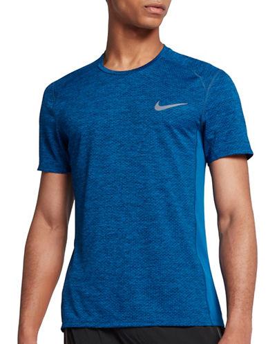 Nike Dry Miler Running Top-BLUE-Medium