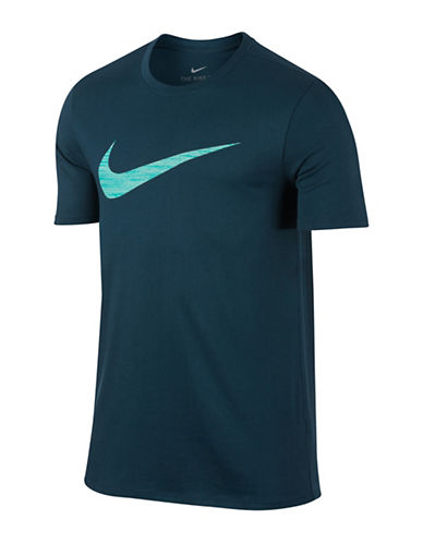 Nike Dry Swoosh Training Tee-BLUE-XXX-Large