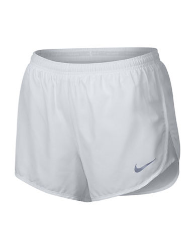 Nike Dry-Fit Running Shorts-WHITE-Medium