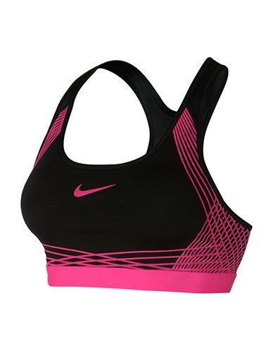 Nike Pro Classic Sports Bra-BLACK/PINK-X-Small 88619486_BLACK/PINK_X-Small