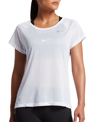 Nike Breathe Running Top-WHITE-Large