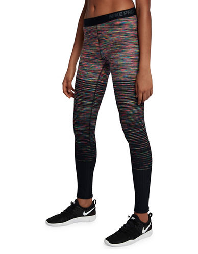 Nike Stirrup Athletic Leggings-PINK-Large